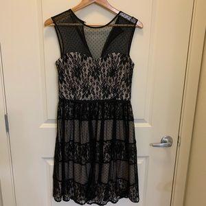 Maggy of London Sz 8 Black Cocktail Dress